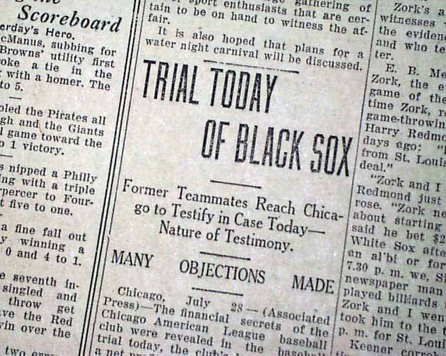 black sox world series scandal trial com click image to enlarge 595567